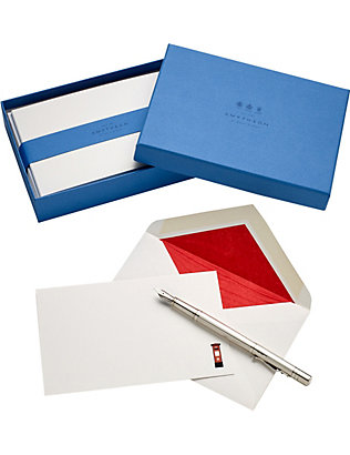 SMYTHSON: British Postbox Correspondence box of 10 greeting cards 16x10cm