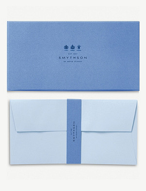 SMYTHSON Bond street blue envelopes pack of 25