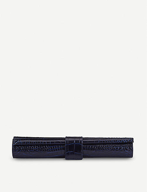 SMYTHSON: Mara leather small travel backgammon roll