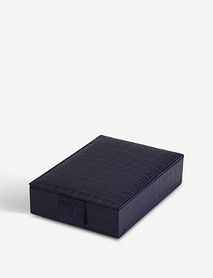 SMYTHSON Mara leather jewellery box with travel tray