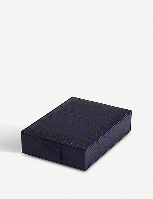 2c7bd45acf14 SMYTHSON Mara leather jewellery box with travel tray