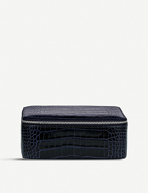 SMYTHSON Mara leather square jewellery pouch