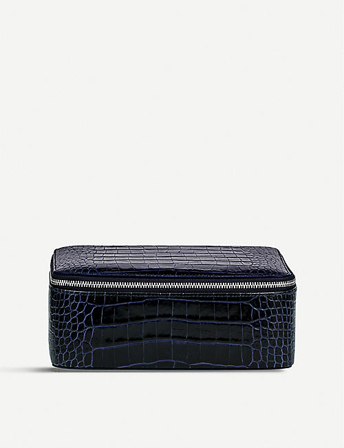 SMYTHSON: Mara leather square jewellery pouch