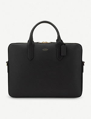 SMYTHSON Panama Slim Leather Briefcase