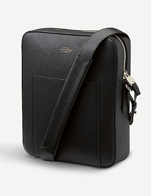 SMYTHSON Panama leather reporter bag