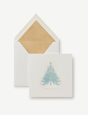 SMYTHSON Christmas tree woven cards pack of 10