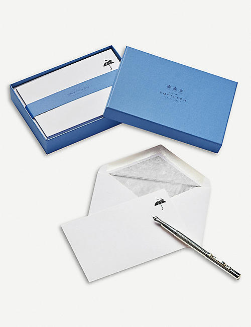 SMYTHSON London Pigeon correspondence cards pack of 10