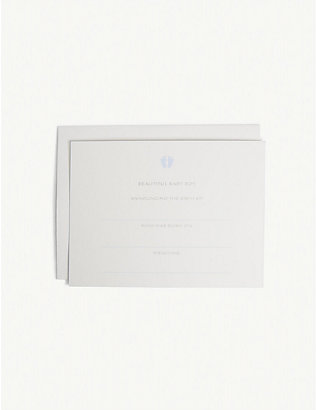 SMYTHSON: Baby boy announcement cards 20-pack