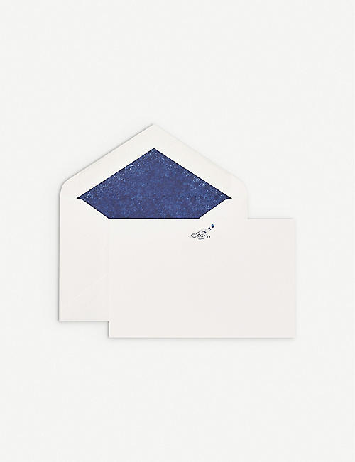 SMYTHSON Message in a bottle correspondence cards pack of 10