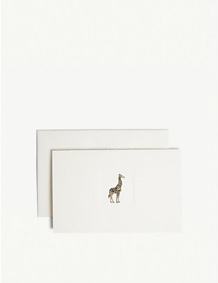 SMYTHSON: Giraffe notelets pack of ten
