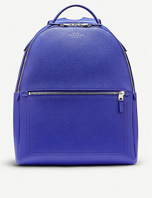 SMYTHSON Panama small cross-grain leather backpack