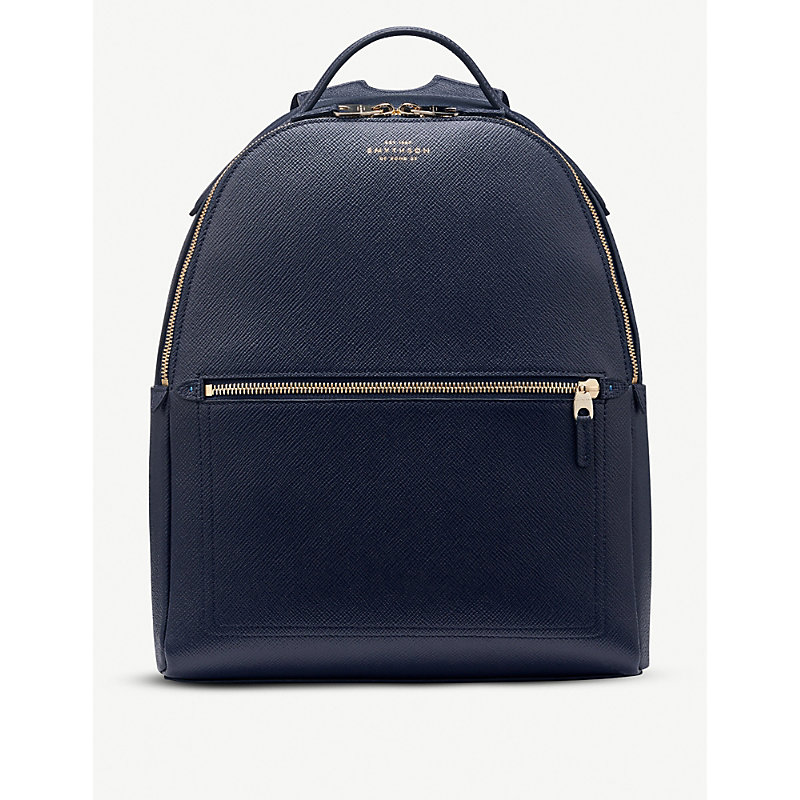 SMYTHSON | Panama Small Cross-Grain Leather Backpack | Goxip