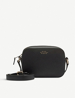 SMYTHSON Panama mini cross-grain leather cross-body bag