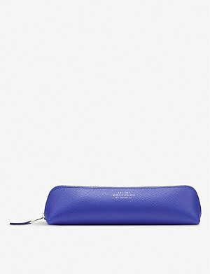 SMYTHSON Panama cross-grain leather pencil case