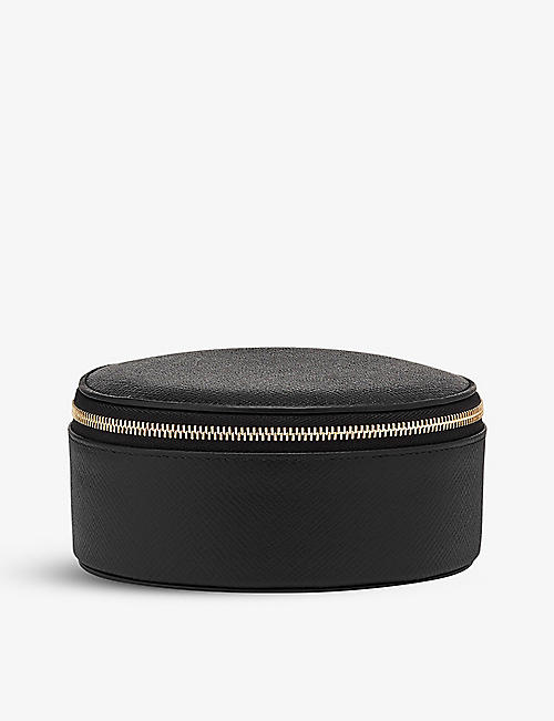 SMYTHSON: Panama leather round trinket case