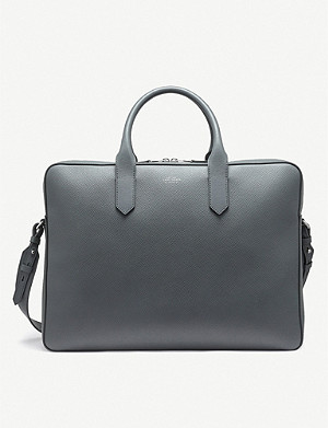 SMYTHSON Panama cross-grain leather large briefcase