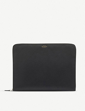 SMYTHSON Panama cross-grain leather large folio