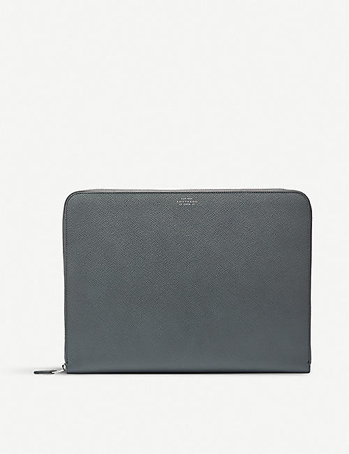 SMYTHSON Panama cross-grain leather folio
