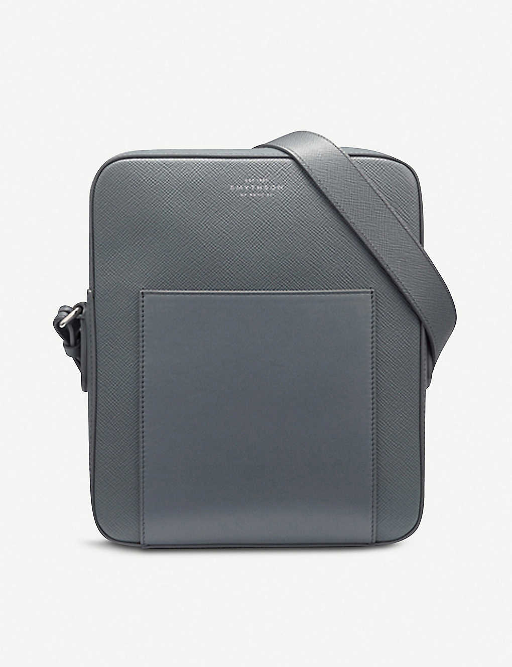 SMYTHSON: Panama cross-grain leather reporter bag