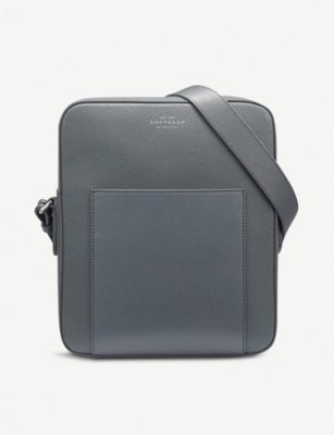SMYTHSON Panama cross-grain leather reporter bag