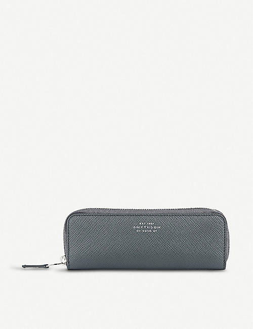 SMYTHSON Panama leather double pen case