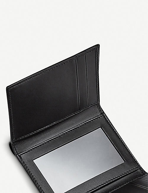 SMYTHSON Panama leather trifold wallet