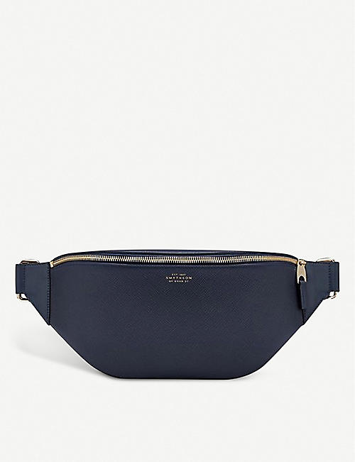 SMYTHSON Panama leather sling bag
