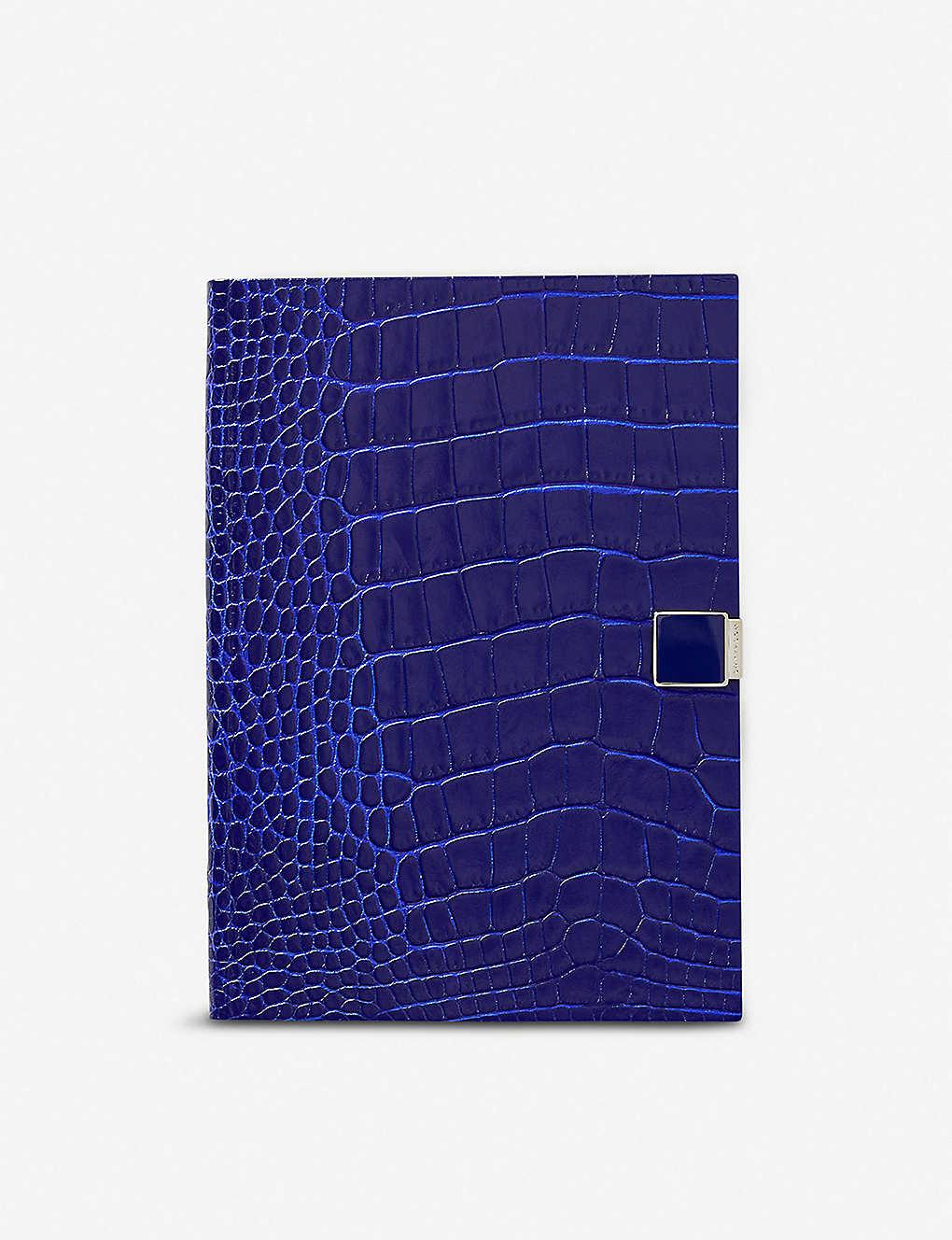 684c8e8292 SMYTHSON - Mara crocodile-embossed leather Soho notebook 19cm x 14cm ...