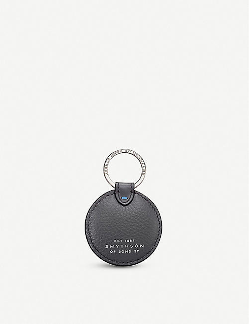SMYTHSON Burlington leather disc keyring