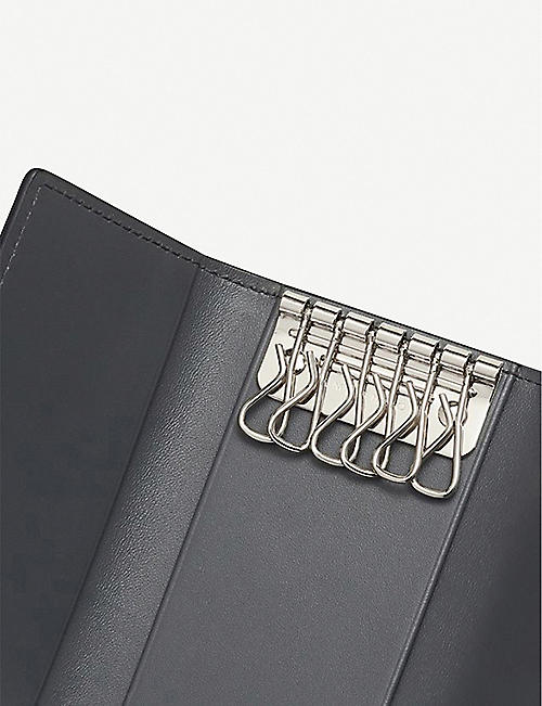 SMYTHSON Burlington leather key holder