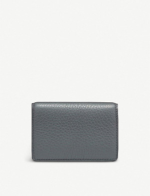 SMYTHSON Burlington leather business and credit card case