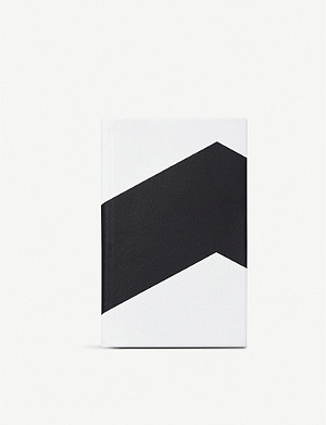 SMYTHSON Panama chevron leather notebook 14cm x 9cm