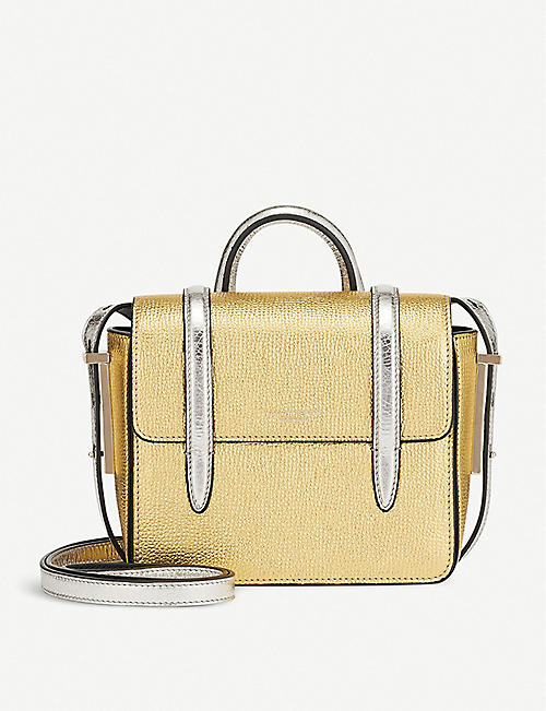 SMYTHSON Wigmore metallic leather cross-body bag