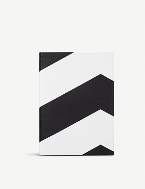 SMYTHSON Soho chevron leather notebook 19cm x 14cm