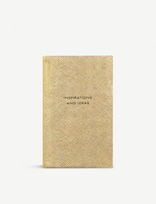 SMYTHSON Inspirations and Ideas Panama metallic-leather notebook