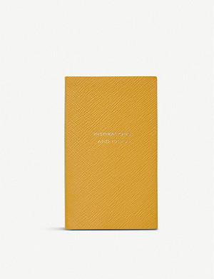 SMYTHSON Inspirations and Ideas Panama leather notebook 14cm x 9cm