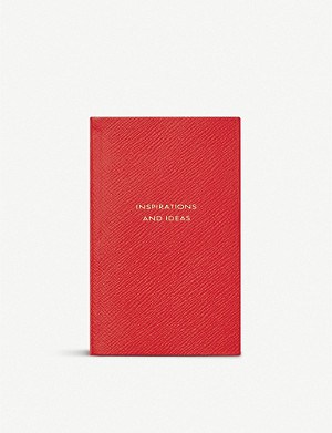 SMYTHSON Inspirations and Ideas Panama leather notebook