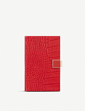 SMYTHSON Panama 2019/20 mid-year lock slide leather diary 14cm x 9cm