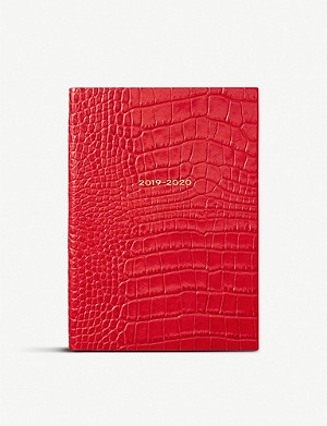 SMYTHSON Soho 2019/20 mid-year leather diary 14cm x 20cm