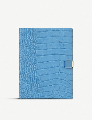 SMYTHSON Soho 2019/20 mid-year slide-lock leather diary 14cm x 20cm