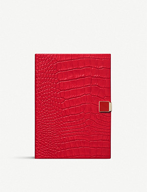 SMYTHSON Mara crocodile-effect leather Soho 2019-20 mid-year diary 14cm x 20cm