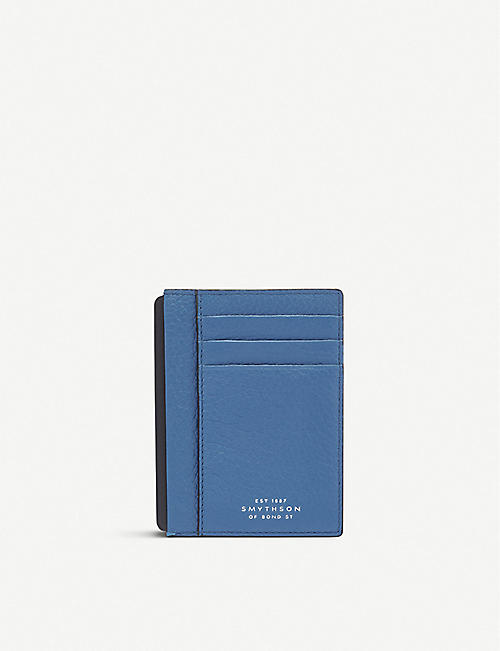 d58454855e45 SMYTHSON Burlington leather card and note holder