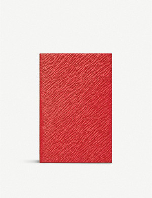 SMYTHSON Chelsea leather notebook 17x12cm
