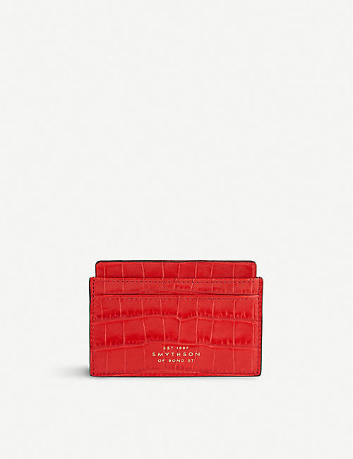 e04e63756ea7 SMYTHSON Mara crocodile-embossed leather card holder