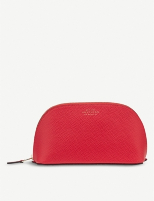 SMYTHSON Panama leather cosmetic case