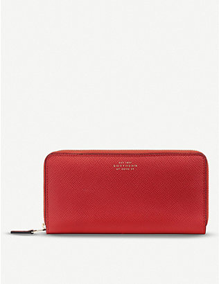 SMYTHSON: Panama large leather zip purse
