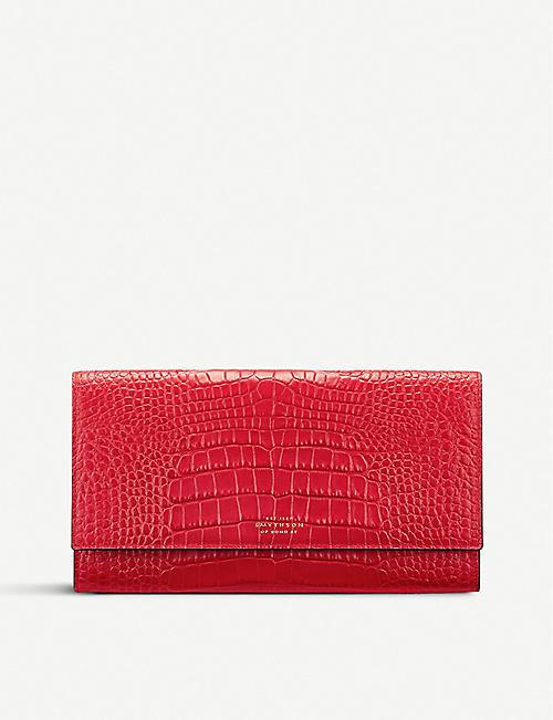 d74f299f40be SMYTHSON Mara Marshall crocodile-embossed leather travel wallet