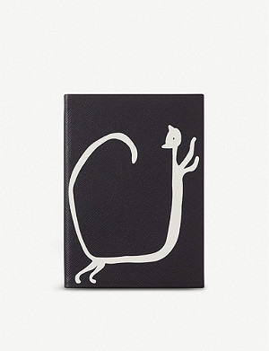 SMYTHSON Cat Soho leather notebook 20cm