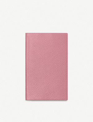 SMYTHSON Panama lambskin leather-bound notebook 9x14cm