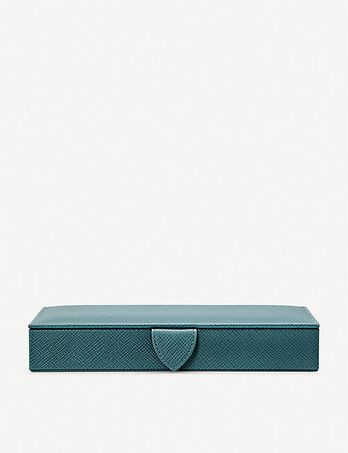 SMYTHSON Panama leather cufflinks box